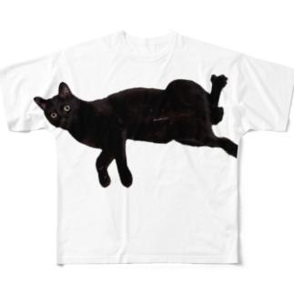 うちの猫:名前はボス、呼び方はけっけ Full graphic T-shirts