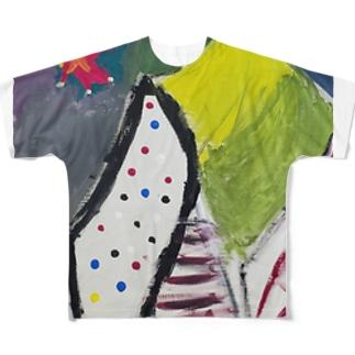絵画「メンヘラ」 Full graphic T-shirts