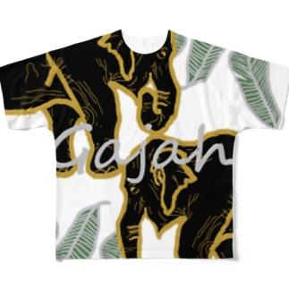 【Gajah】 Full graphic T-shirts