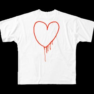 村上裕 daily work 燃料 裸の特異点 素人のmy heart Full graphic T-shirts