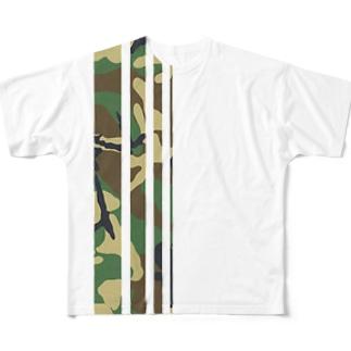 迷彩 Full graphic T-shirts