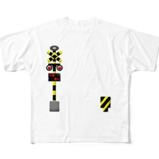 あそべる踏切 Full graphic T-shirts