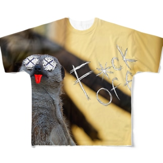F×ck Off ミーアキャット Full graphic T-shirts