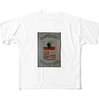 レトロTOKIO 新橋ダンスホール Full graphic T-shirts