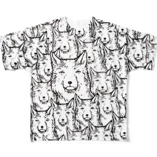 両面印刷チベットスナギツネ_虚無ホワイト  Full graphic T-shirts