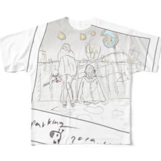 チェキ風気取り(透過) Full graphic T-shirts