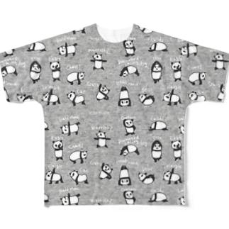 ヨガパンダT Full Graphic T-Shirt