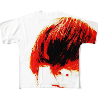 RyoY_ArtWorks_Galleryの赤髪の青年 Full graphic T-shirts