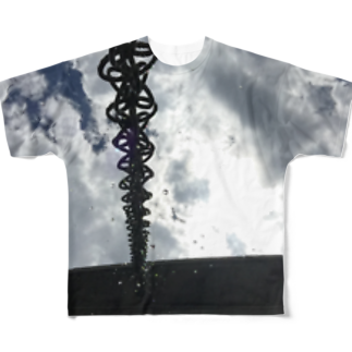 RyoY_ArtWorks_GalleryのSunLight_Chain_Water_SKY Full graphic T-shirts