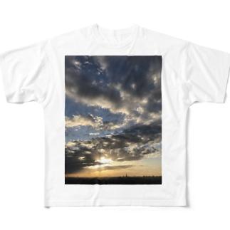 ある霜月の夕暮れ Full graphic T-shirts