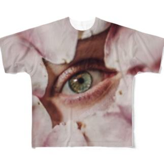 eye(flower) Full graphic T-shirts