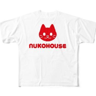 ぬこハウス Full graphic T-shirts