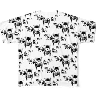 【ハチミツ大収穫】ころんとした蜂 Full graphic T-shirts