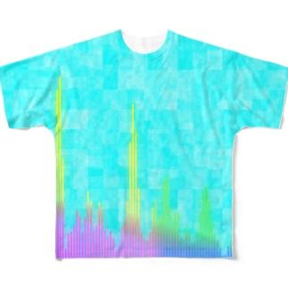 オーディオスペクトラムTシャツ Full graphic T-shirts