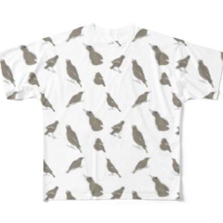 我が家の居候ピヨコ Full graphic T-shirts