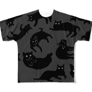 黒猫倶楽部 Full graphic T-shirts