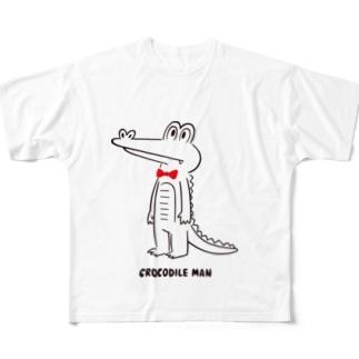 クロコダイルマン Full graphic T-shirts