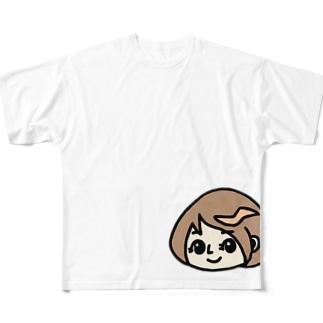 すっぴん Full graphic T-shirts