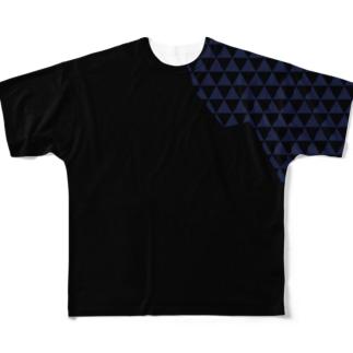 鱗肩(うろこかた) Full graphic T-shirts