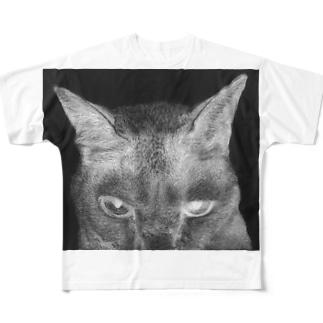 般ニャ 白黒反転ヴァージョン Full graphic T-shirts
