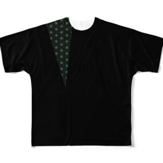 麻葉切(あさはぎり) Full graphic T-shirts
