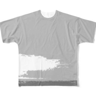 グラデーション Full graphic T-shirts