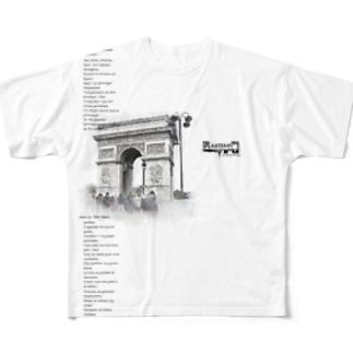 凱sense門(GAISENMON)~エトワールの凱旋門~ Full graphic T-shirts