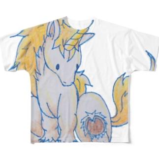 ちびユニコーン Full graphic T-shirts