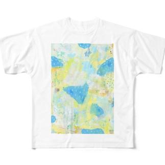 青のはぎれ Full graphic T-shirts