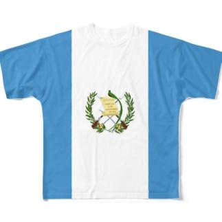 グアテマラ国旗 全柄 Full graphic T-shirts