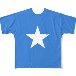 ソマリア国旗 全柄 Full graphic T-shirts