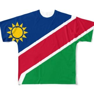 ナミビア国旗 全柄 Full graphic T-shirts