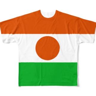 ニジェール国旗 全柄 Full graphic T-shirts