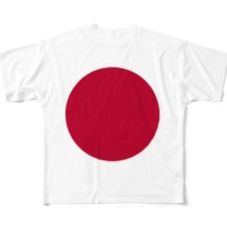 日本国旗 全柄 Full graphic T-shirts