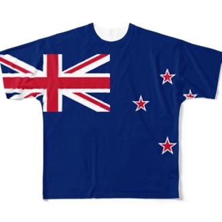 ニュージーランド国旗 全柄 Full graphic T-shirts