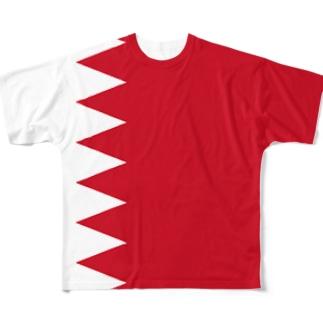 バーレーン国旗 全柄 Full graphic T-shirts