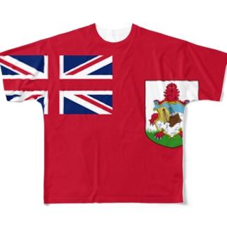 バミューダ国旗 全柄 Full graphic T-shirts