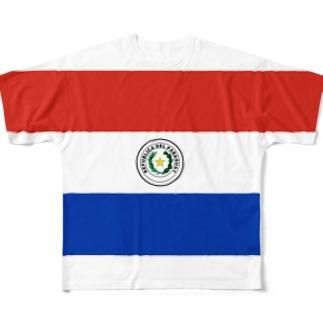 パラグアイ国旗 全柄 Full graphic T-shirts