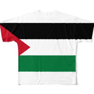パレスチナ国旗 全柄 Full graphic T-shirts