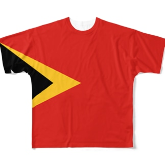 東ティモール国旗 全柄 Full graphic T-shirts