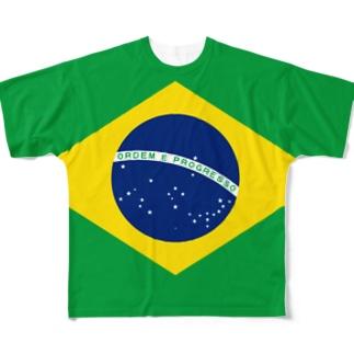 ブラジル国旗 全柄 Full graphic T-shirts