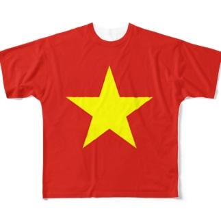 ベトナム国旗 全柄 Full graphic T-shirts