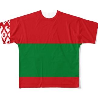 ベラルーシ国旗 全柄 Full graphic T-shirts