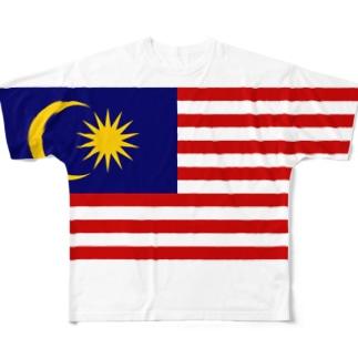 マレーシア国旗 全柄 Full graphic T-shirts
