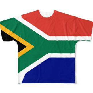 南アフリカ国旗 全柄 Full graphic T-shirts