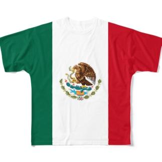 メキシコ国旗 全柄 Full graphic T-shirts