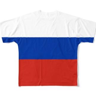 ロシア国旗 全柄 Full graphic T-shirts