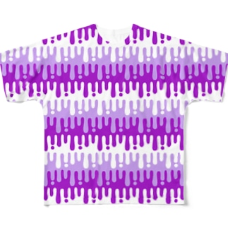 melty border(purple) Full graphic T-shirts