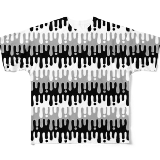 melty border(black)  Full graphic T-shirts