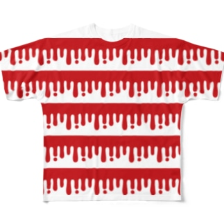 melty border(B/red) Full graphic T-shirts